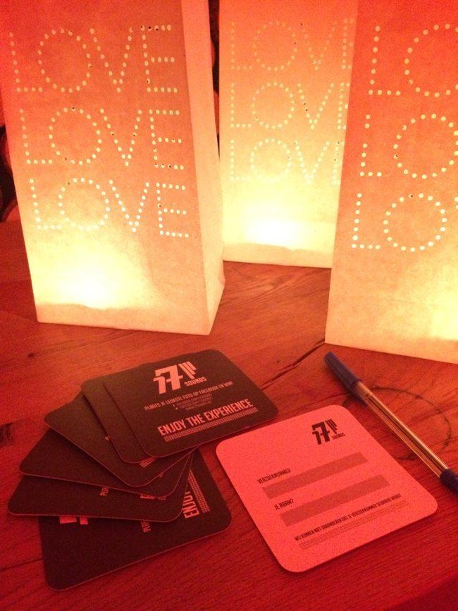 Onze bierviltjes voor verzoeknummers (die gratis bij onze shows zitten) liggen weer klaar voor gebruik!