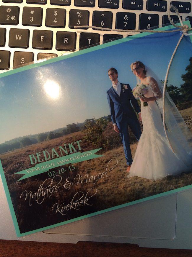 DJ Mark kreeg een super leuk bedankje van het bruidspaar, dankjewel Nathalie & Marcel!