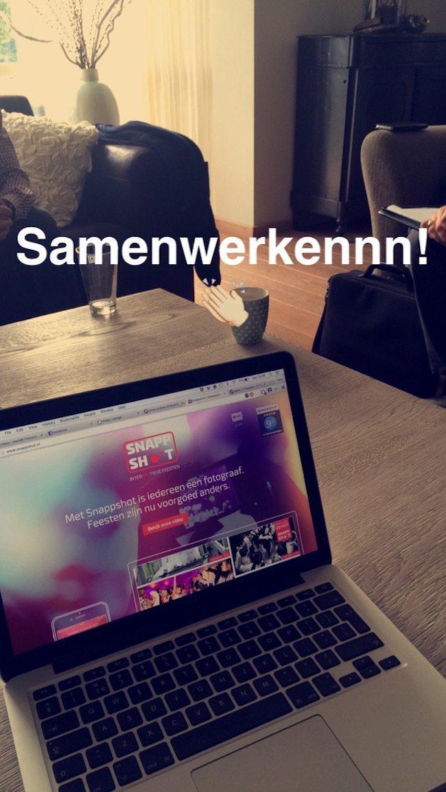 Zaterdag middag hadden we de laatste afspraak met Snappshot.nl, zoals jullie al eerder zagen is de samenwerking een feit! ???
