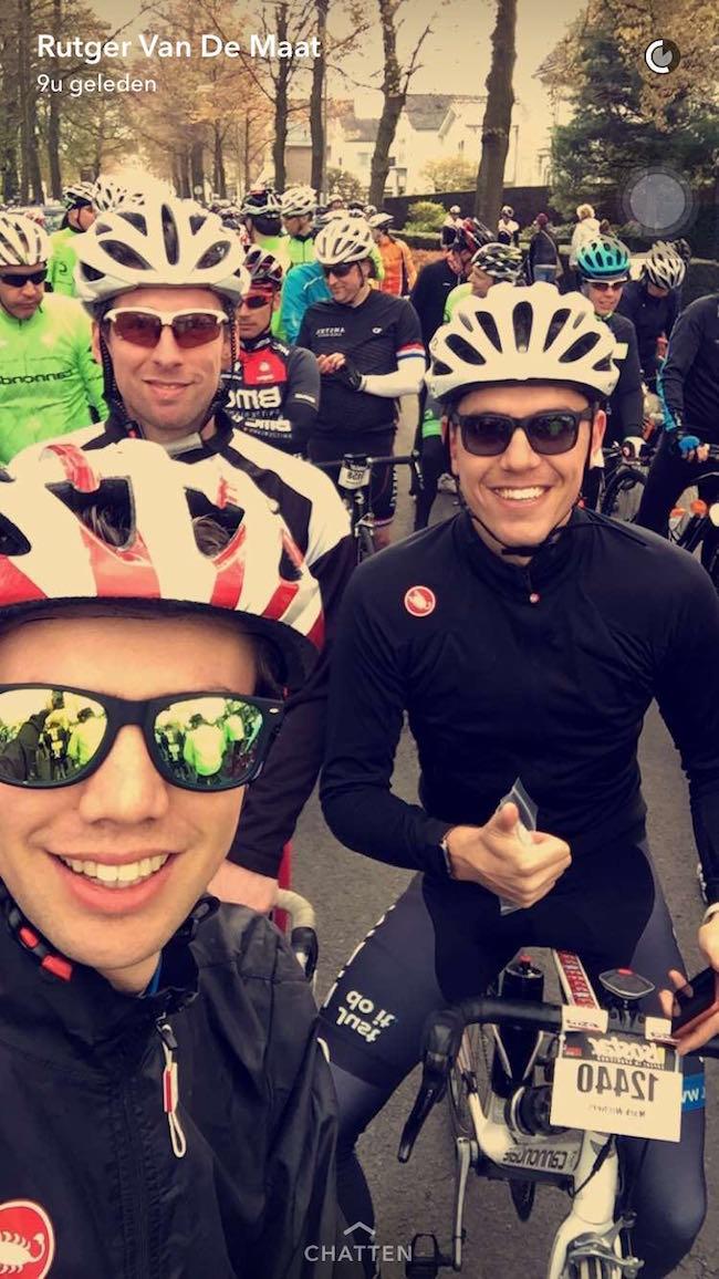 Een week later was het tijd voor het echte werk! De Amstel Gold Race, 150KM door de Limburgse Heuvels! Helemaal klaar voor alle mooie feesten de komende tijd! ??