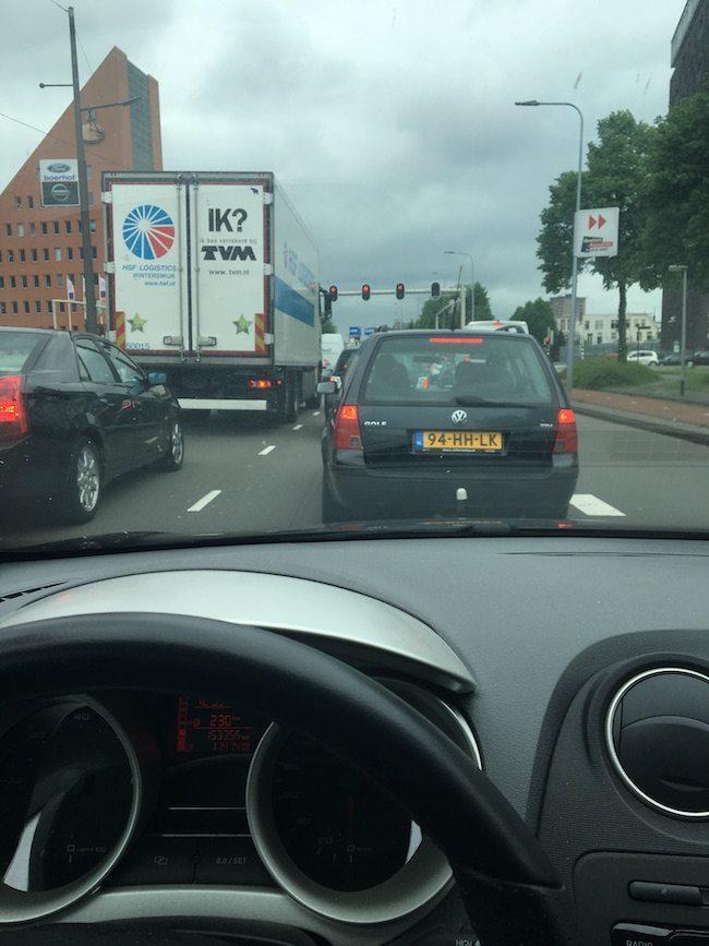 DJ Erik vertrok op tijd naar Dalfsen. Altijd druk op die drukke weg in de richting van Zwolle, dus op tijd vertrekken! ??