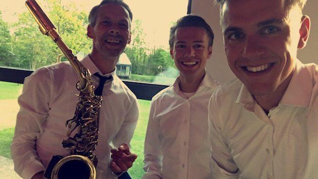 #selfie #djmetsaxofonist v.l.n.r. J-sax, Rutger & Mark! ✌?