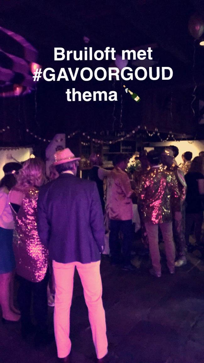 Op deze laatste bruiloft, die van Ralph & Marinke, was het thema 'We gaan voor Goud'. Alle gasten waren derhalve geheel in goud gekleed en gingen vanaf 21:00u he-le-maal los! ?