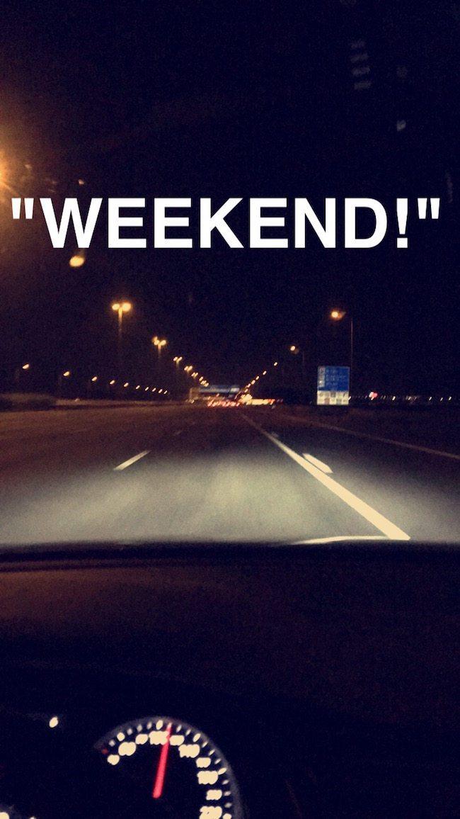 En ook voor ons komt dat moment dat de meesten rond 17:00 op vrijdag beleven: WEEKEND!
