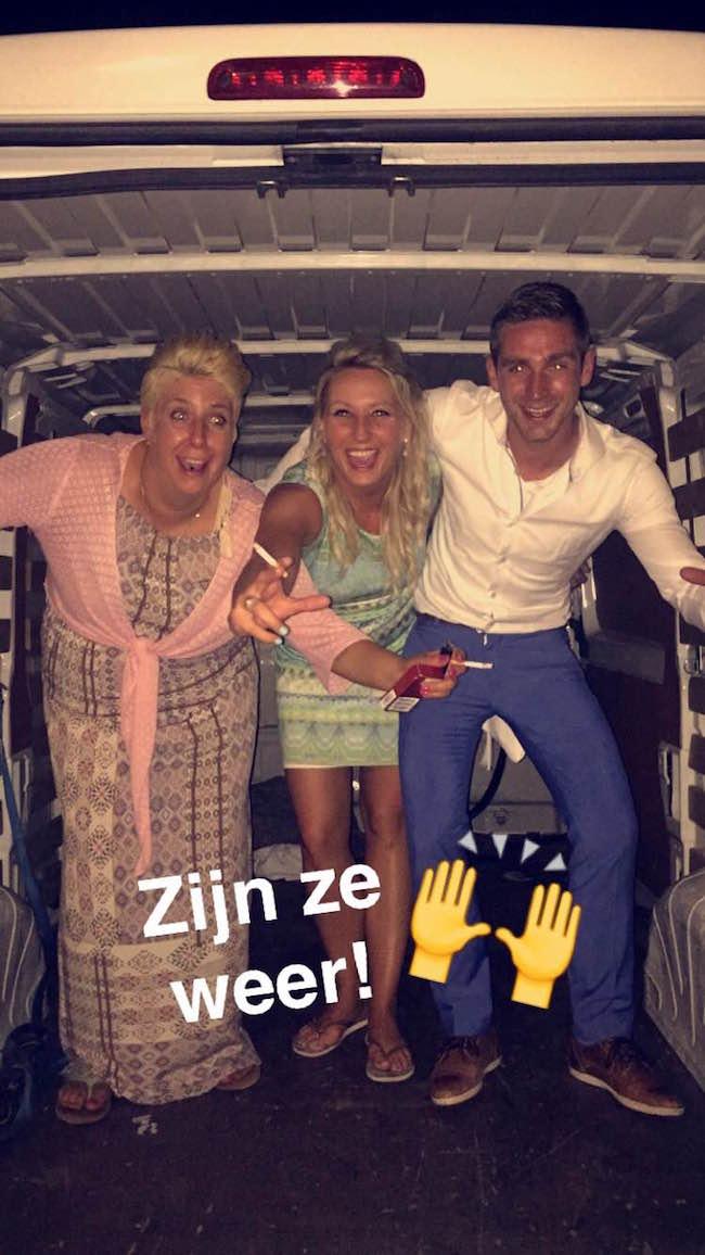 #traditie #wegaannognietnaarhuis Deze gasten waren vorige week ook op de bruiloft van Sanne & Lennart! Tot volgende week? ;-) ??
