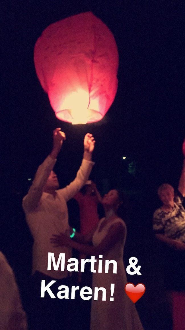 De wensballon! Blijft mooi! Ook veel geluk samen ?