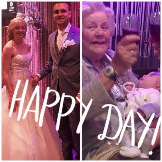Hier nogmaals een foto van de #topoma en het gelukkige bruidspaar! ??