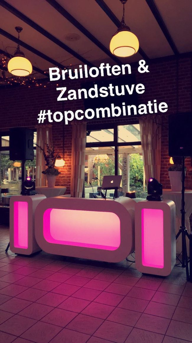 DJ Mark draaide bij de Zandstuve in Den Ham op de bruiloft van Lisan & Maarten! #goudencombinatie ??