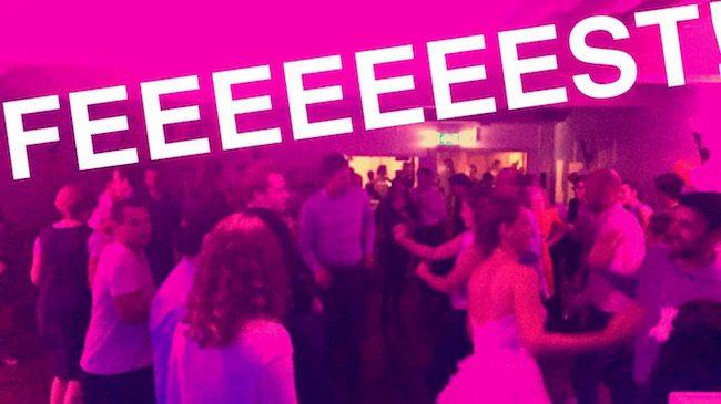 Groot feest direct na de openingsdans in Utrecht! Gezelig!!